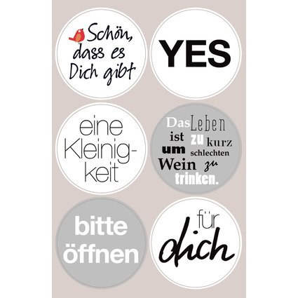 Sticker Words schwarz